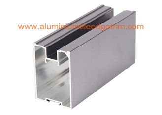 Anodized Grey Aluminium Sliding Wardrobe Door Profiles 4-6m Length Anti Corrision