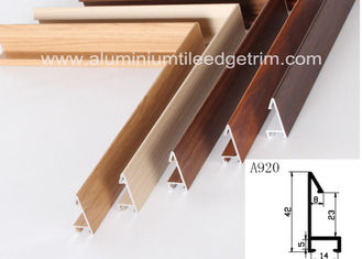 Fashionable Aluminum Sectional Picture Frames Heat Transfer Printing Wood Grain Effect